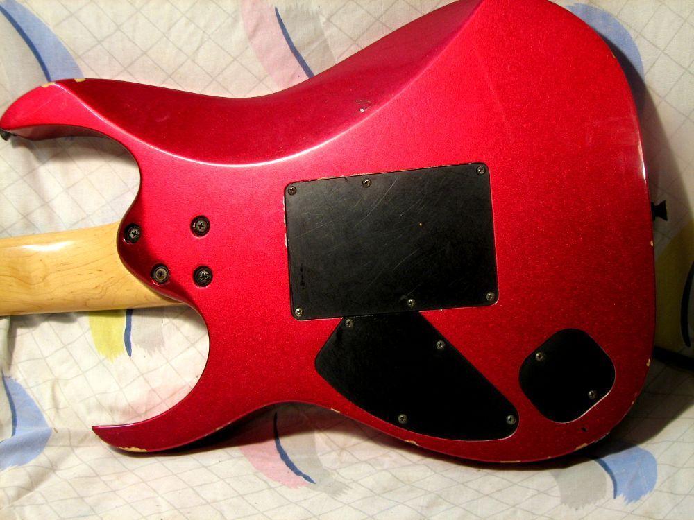 Incomming New Old Guitar day. 2000 MIJ RG7420 in Magenta Crush-l1640-jpg